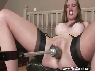 mature girl plays  and uses dildo