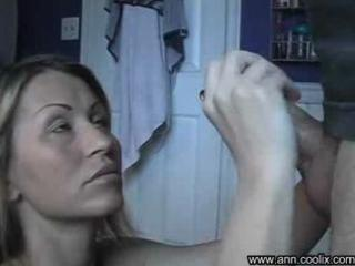 blond older  fresh handjob