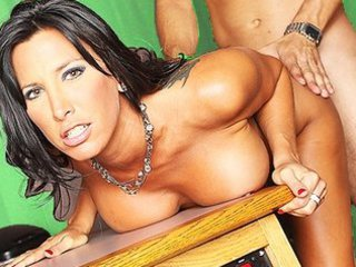 large boob brunette lady woman fuckstar deep gang