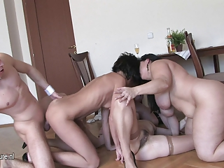 cougar amp ladies gangbanged by solitary