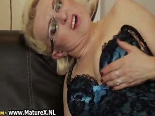 busty older  milf is rubbing her kitty part5