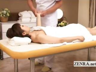 japanese woman lies naked for sensual erotic oil