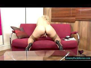 albino granny filmed in solo act