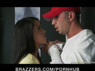 large breast woman lady brunette deepthroats &