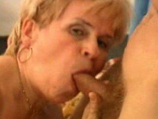 elderly blows and ingests