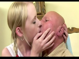 elderly man copulate his juvenile bitch