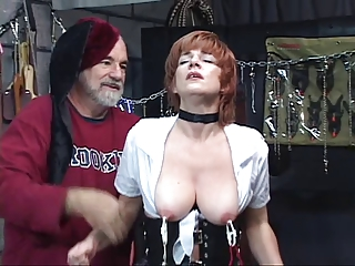 hot, cougar redhaired takes her kitty toyed with,