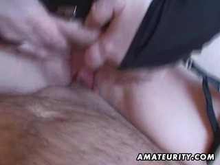 naughty young wife handjob and cock sucking with