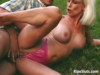sweet mature blond takes pierced