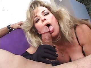 woman bitch gets licks a boy off