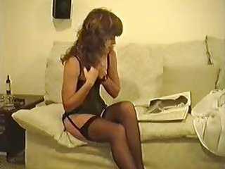 naughty woman in pantyhose and shoes solo