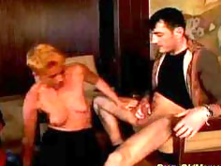 horny old mom gets difficult drilled and facial