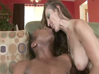 woman having interracial sex at home