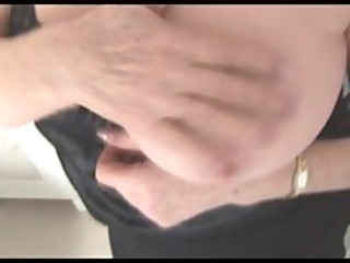 busty mature elderly shows off hairy kitty