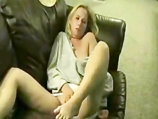 drunk housewife masturbate and squeezing on bed