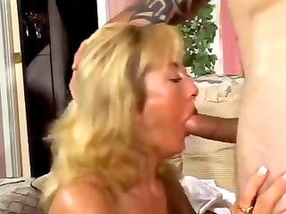 cougar heavy albino nibbles on his young boner