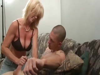 lovely mature babes stroking boy