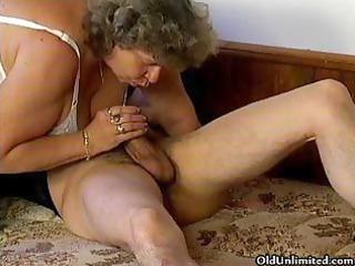 slutty grandma loves licking some