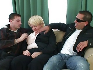two boys gang bang totally naughty old