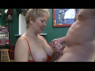 good aged whore licks off a fellow