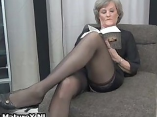 grownup maiden into gorgeous dark stockings part5