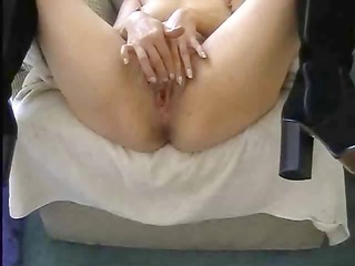 point of view of babe using a weird plastic cock