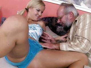 amateur pale teasing porn with grandpa