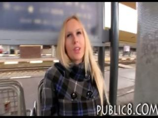 big tits fresh lady creampie jizzed on the train