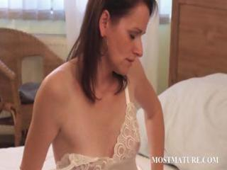 thin older  masturbating with stunning assets