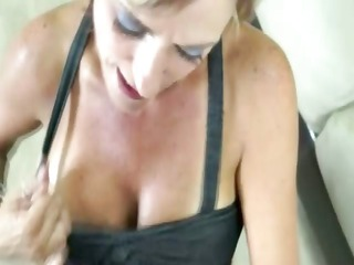 cougar lady is cleaning the pipes