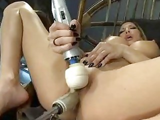 giant hooters blonde milf drilling machines and