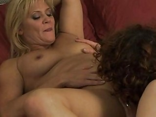 two homosexual woman mommas have chick on babe