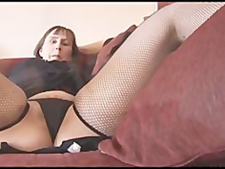 busty cougar brunette with hirsute cave goes