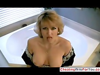 home wife enjoys to swallow