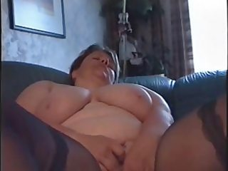bbw wife teases and cums while hubby films