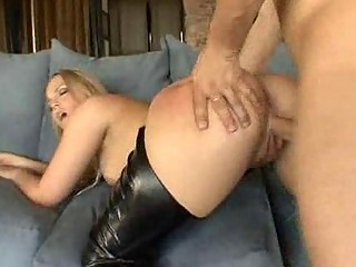 pale lady inside busty galoshes screws her boss