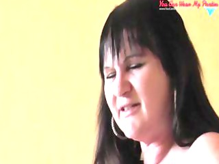 nasty english wife strapon and white cream covered