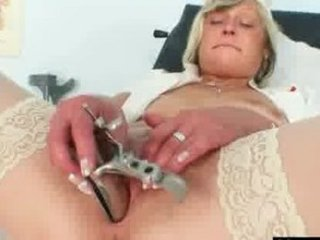 dirty doctor woman nada bangs herself with giant