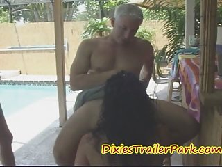 lady bartender acquires her tips into penis and