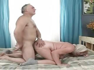 granny grandma bends over and obtains slammed