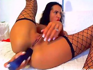 sexy brunette playing with her two holes2.flv