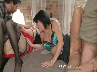 mom grownup swingers acquire turns