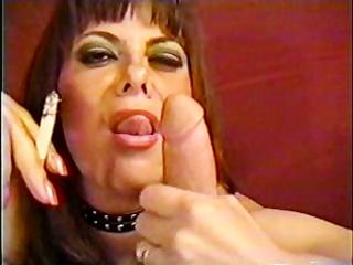 grownup belle licking smoke and manmeat