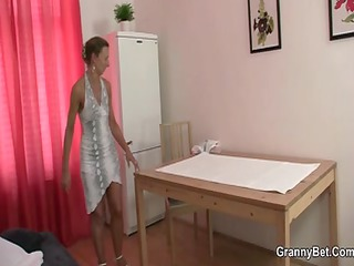 granny masseuse licks and rides his pecker