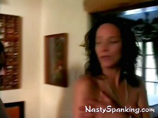 two housewives taking spanked