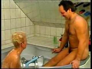 dirty german grandma gangbanged inside bathtub