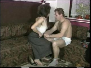 lean milf with little droopy tits takes pierced
