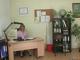 older  workplace boss forces him pierce her