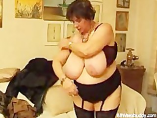 grown-up bbw gets it into the ass