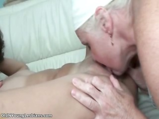 horny old lesbian woman likes tasting part2